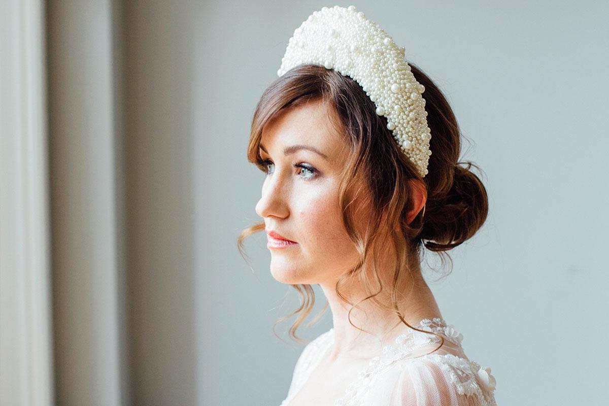Lucille headband by Stephanie Gallen Millinery