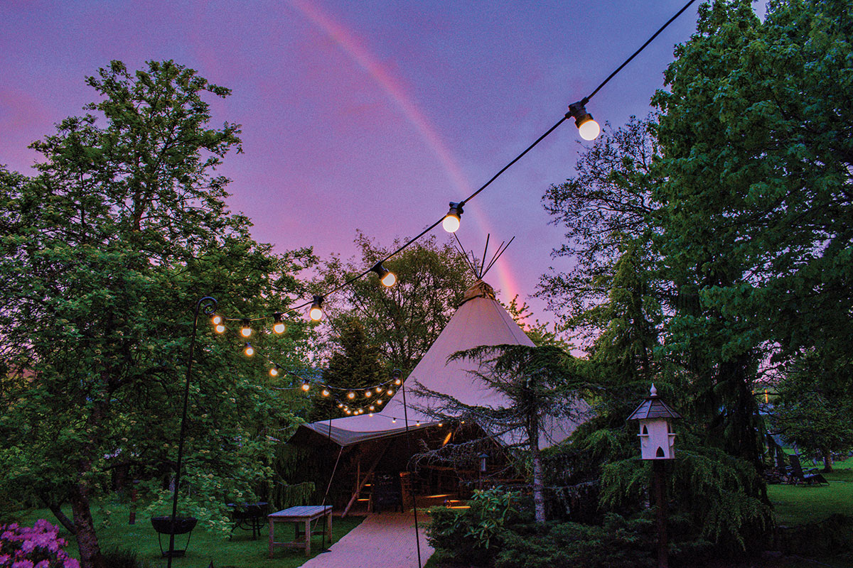 Errichel House and Cottages wedding yurt