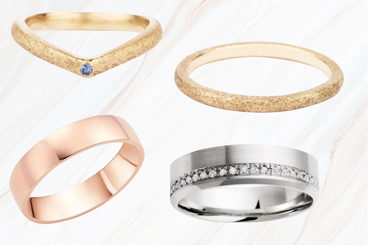 wedding rings by Jane Harrison and Beaverbrooks