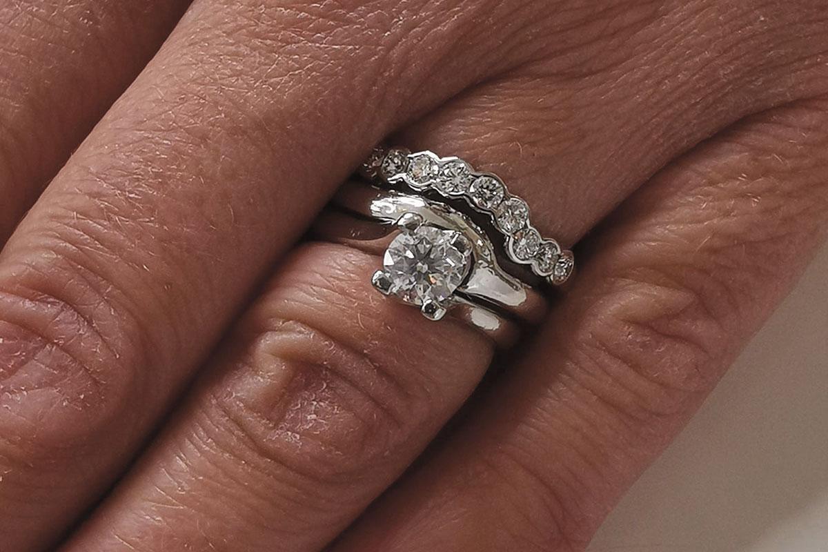 Platinum diamond rings by Jewellery by Design