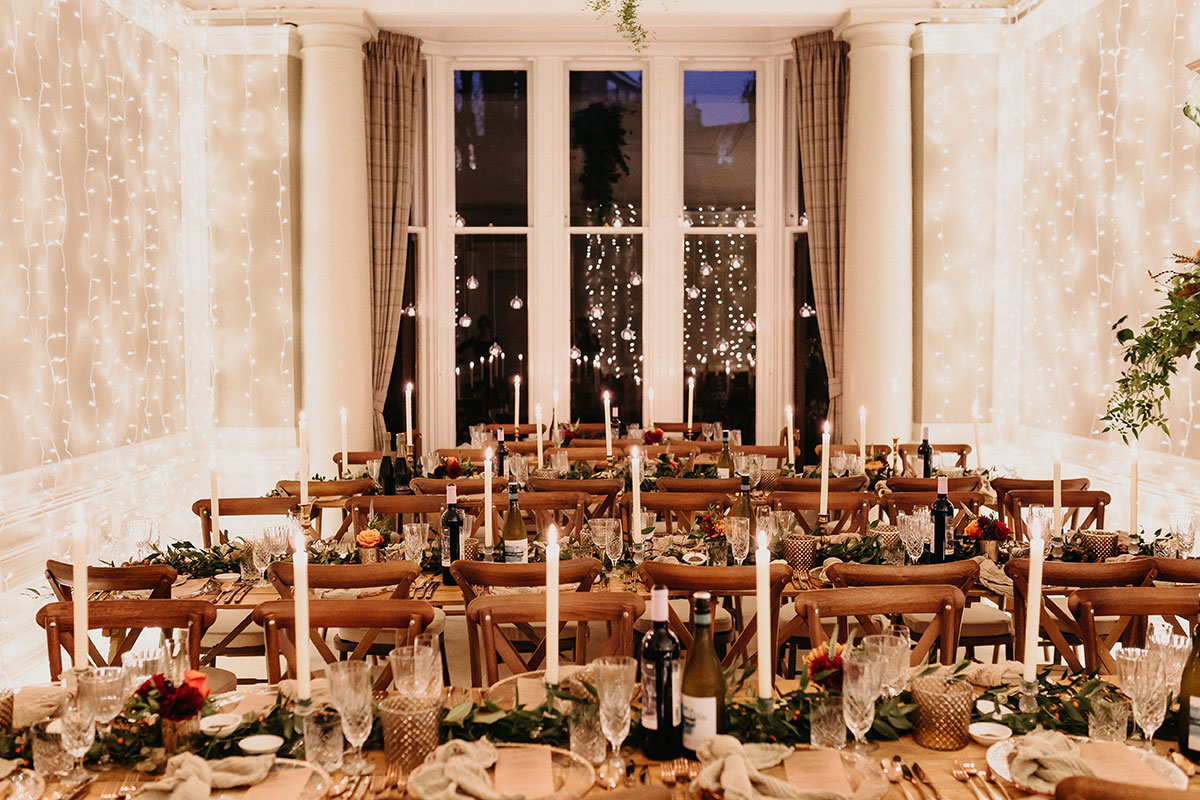 wedding private dining set up at home by Platter and Pop