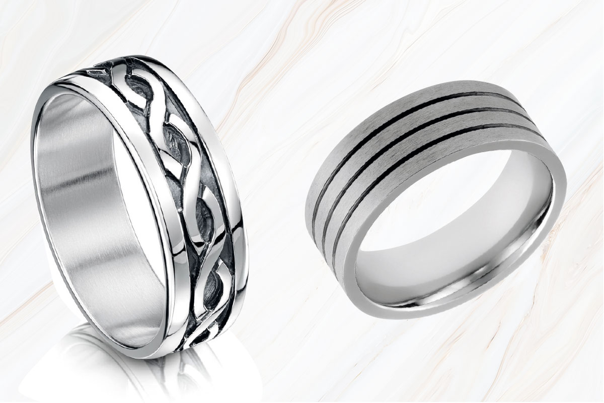 wedding rings by Sheila Fleet and Chisholm Hunter