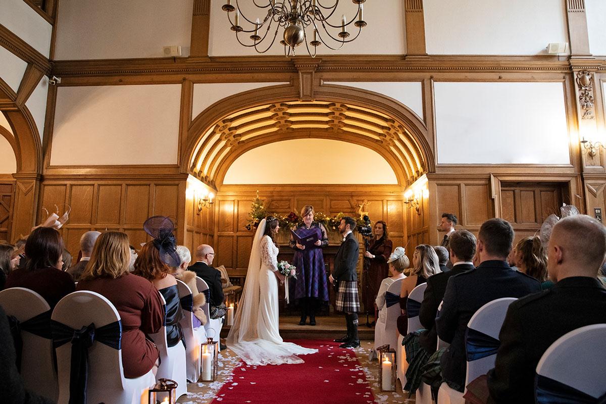 festive wedding ceremony Inglewood House