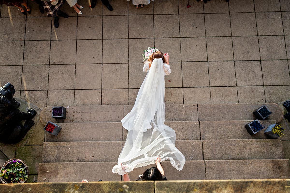 bride festive wedding at Inglewood House