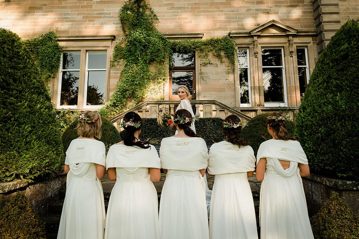 Bridesmaids wearing Mirka Bridal