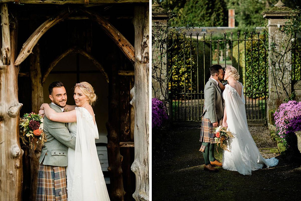 Newlywed couple at Errol Park