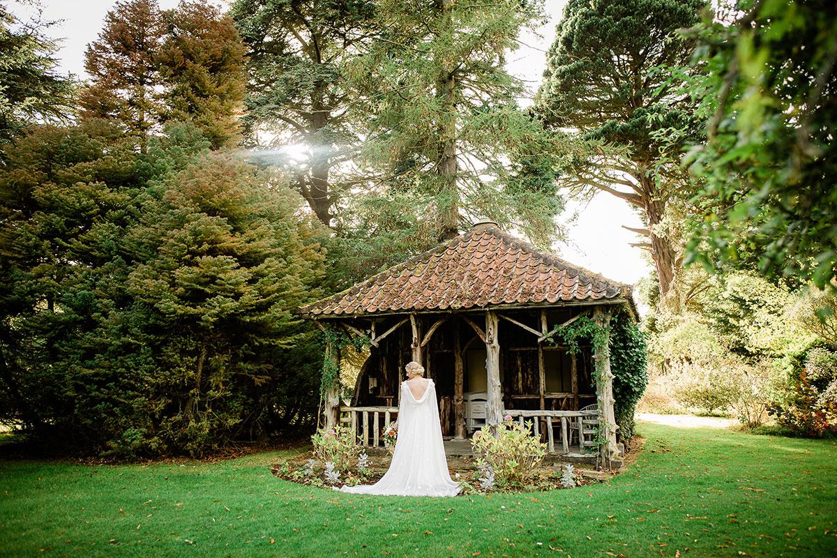 Bride in grounds at Errol Park