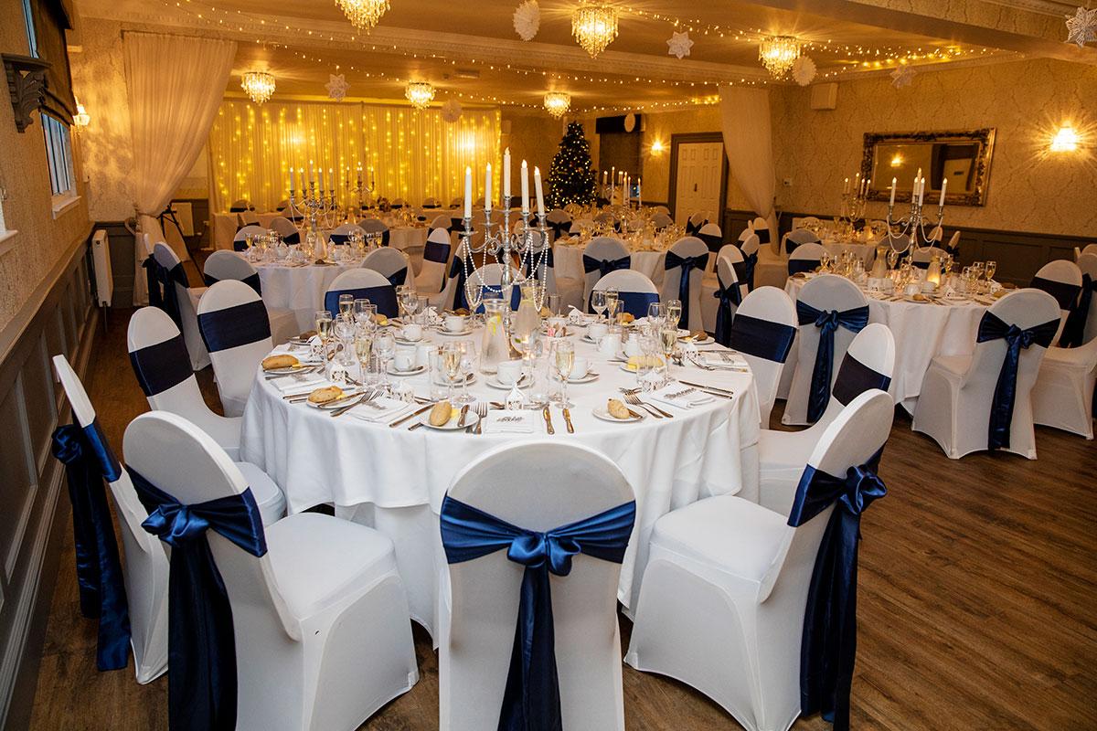 wedding reception room at Inglewood House