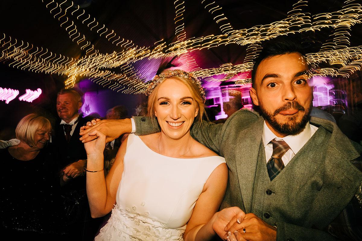 bride and groom dancing at Errol Park