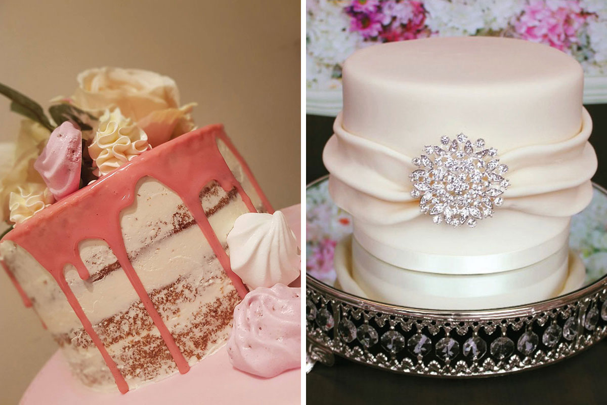 Small wedding cakes by The Bluebird Cake Company and Gorgeously Sweet Cake Emporium