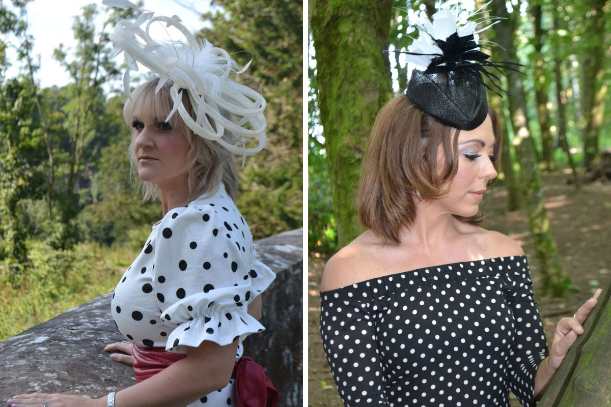 Wedding hats by Feather Finesse