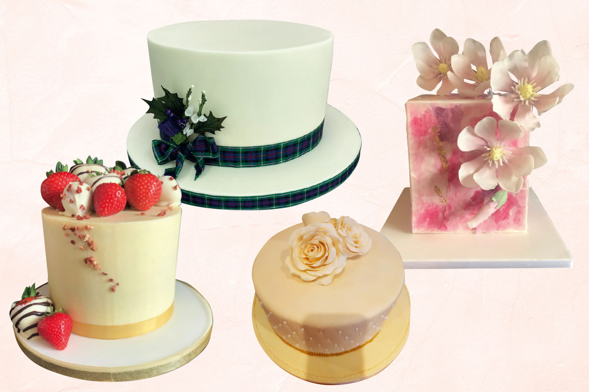 Small wedding cakes by Gorgeously Sweet Cake Emporium, Jappacakes and The Bluebird Cake Company