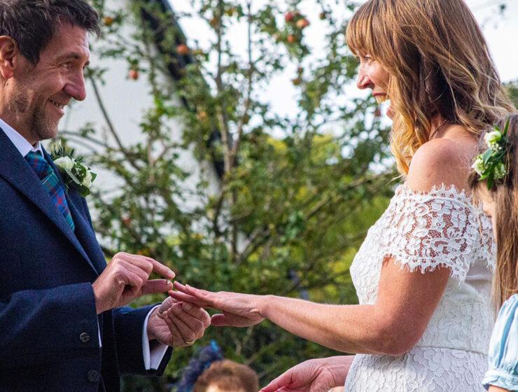 Humanist Society Scotland wedding ceremony ring exchange