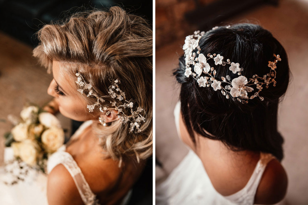 Wedding hair accessories by Kate Dillon Designs