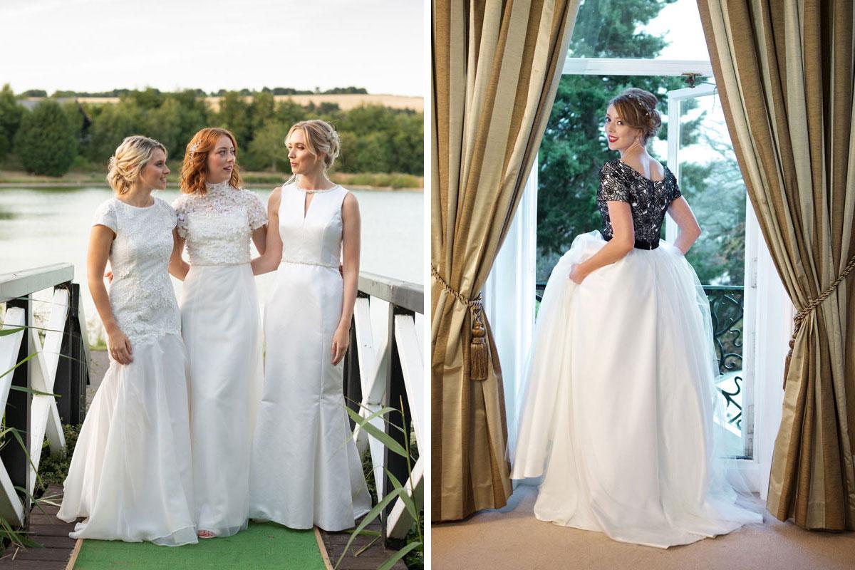 Wedding dresses by Pamela Fraser Designs