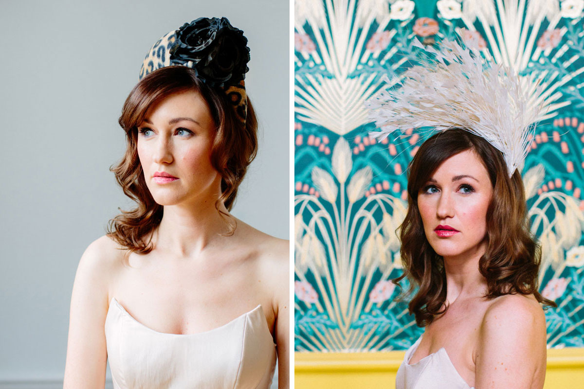 Wedding headpieces by Stephanie Gallen Millinery