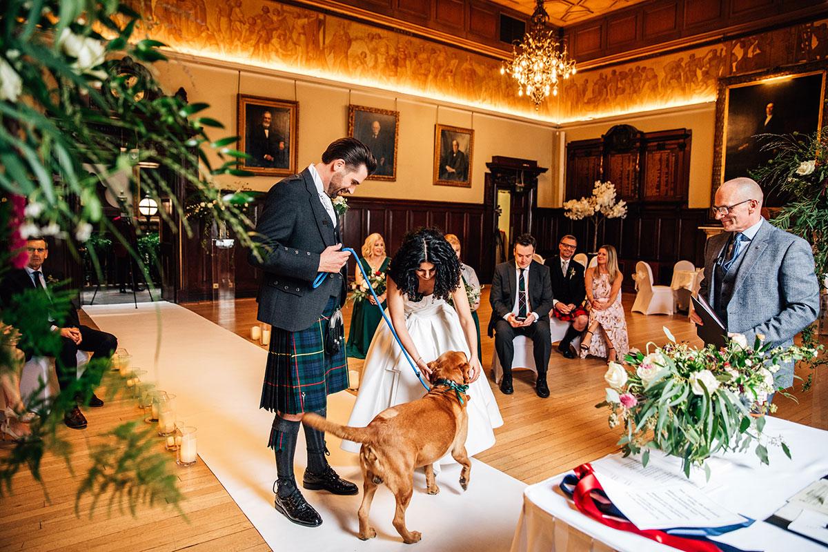 Fuze Ceremonies trades hall streamed wedding