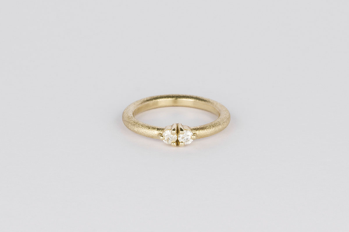 Yellow gold ring from Jane Harrison jewellery