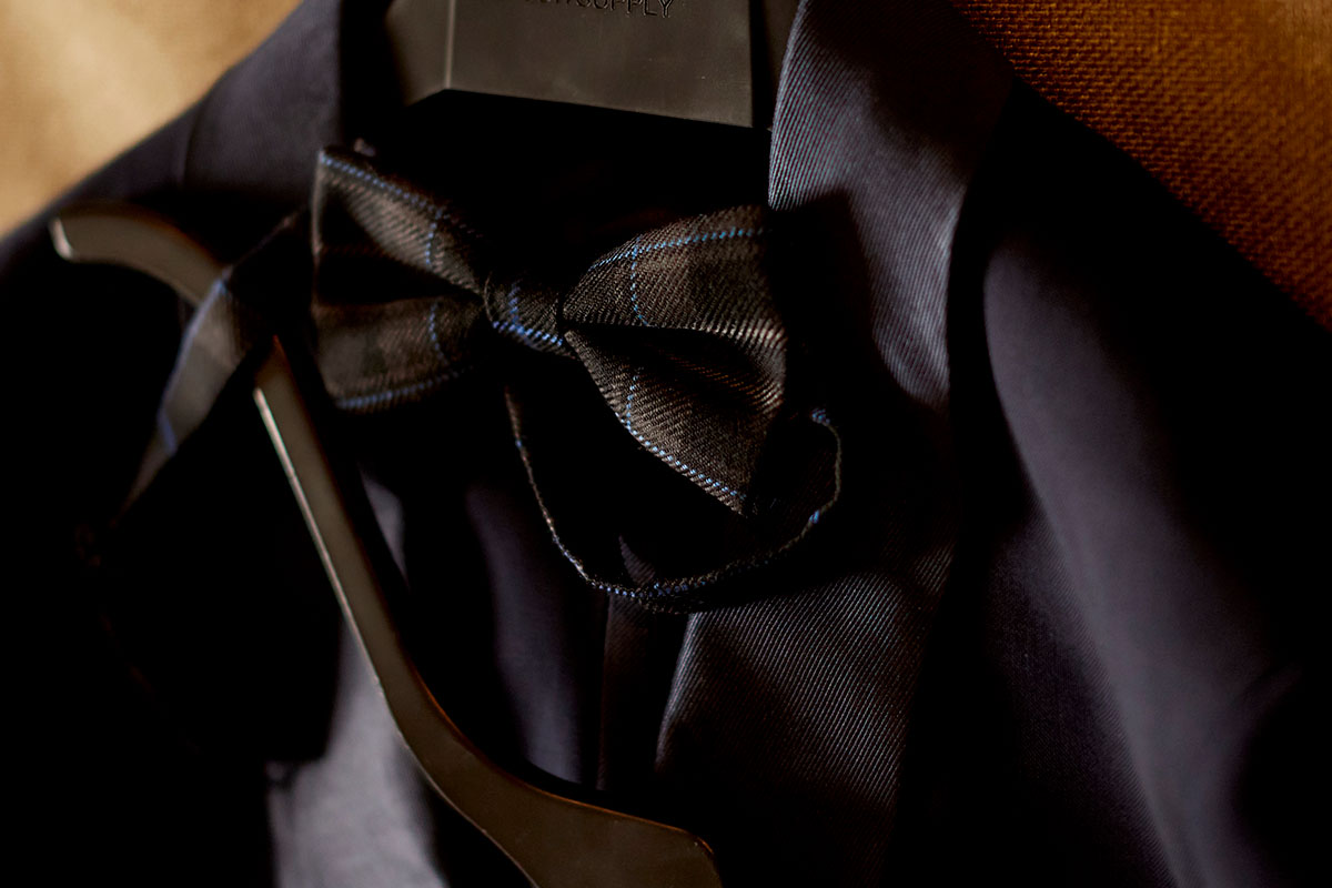 bowtie and suit jacket Story of Love Photography Neidpath Castle two grooms wedding