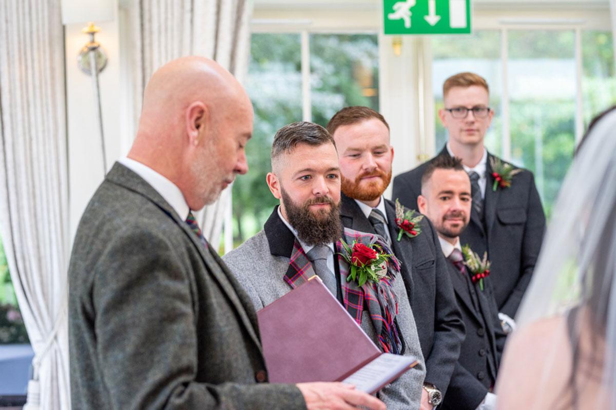 wedding ceremony Carlowrie Castle
