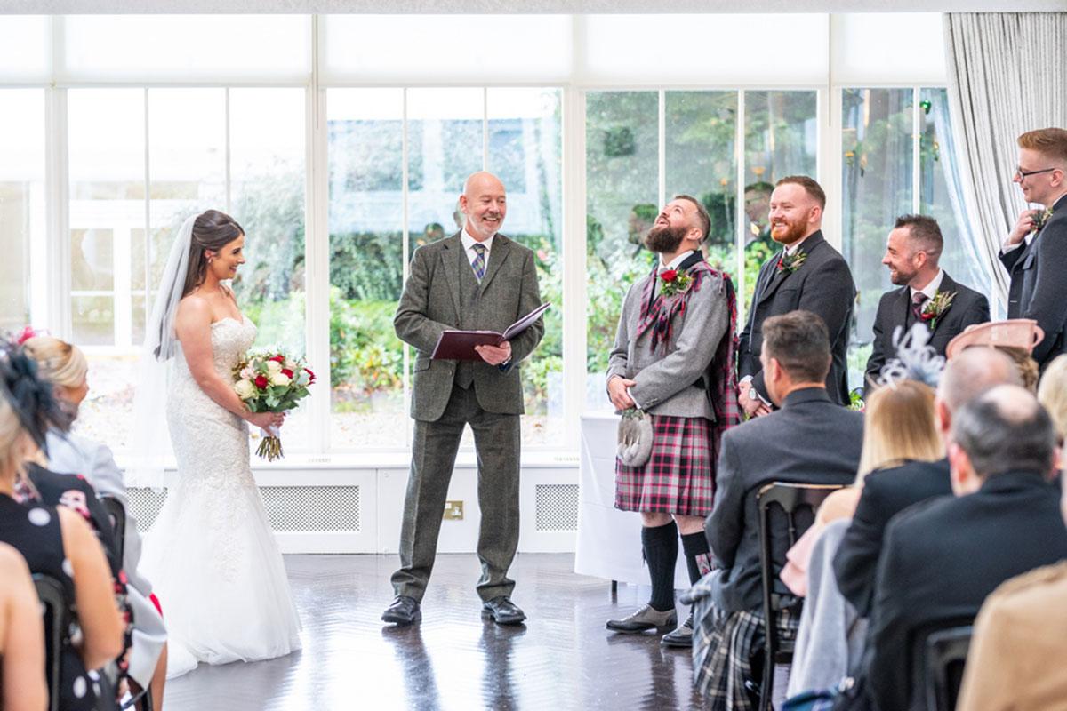 CameraShy Photography Carlowrie Castle wedding ceremony