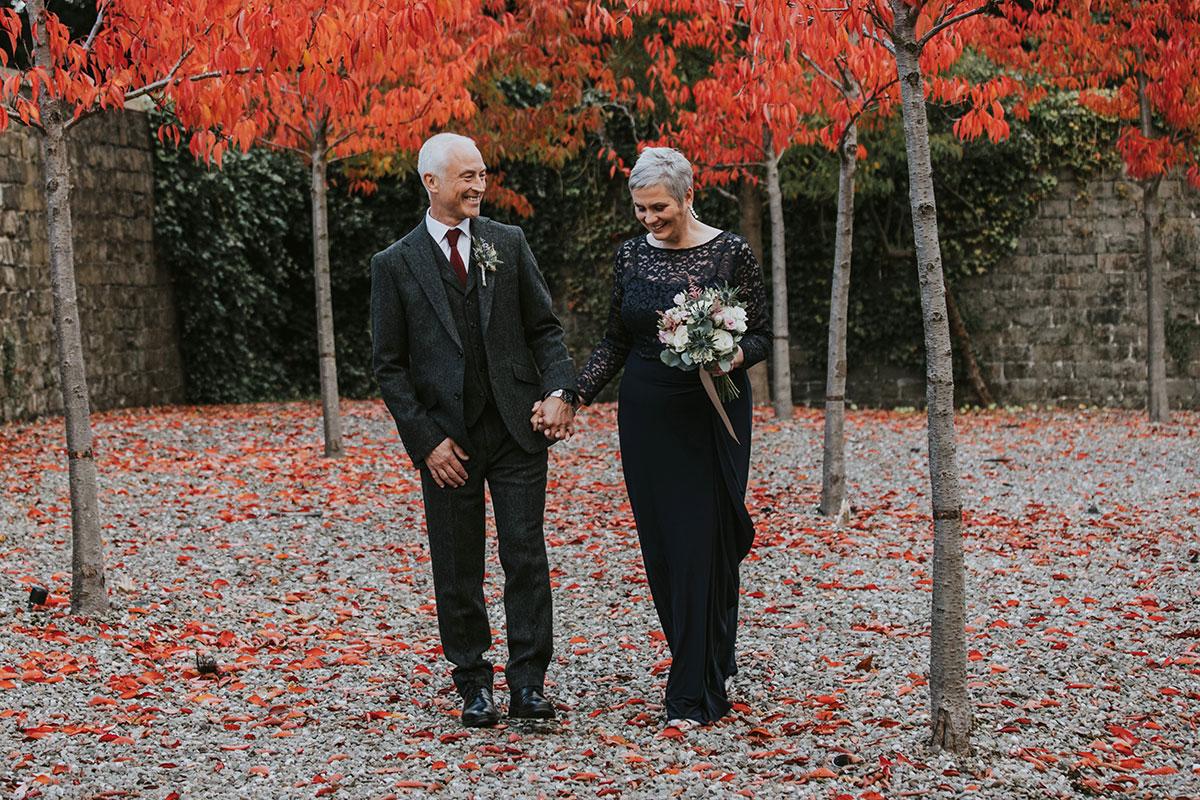 Norton House Hotel Iris Art Photography autumn wedding older couple