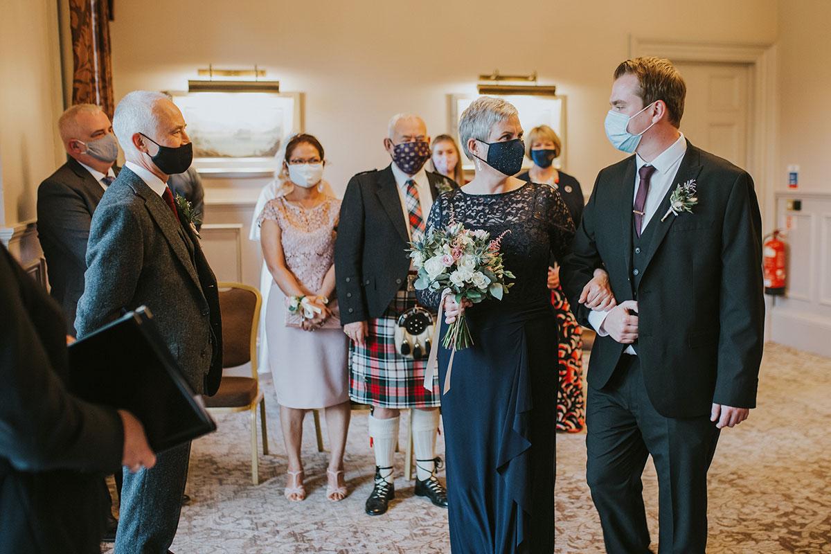 Covid wedding ceremony Norton House Hotel