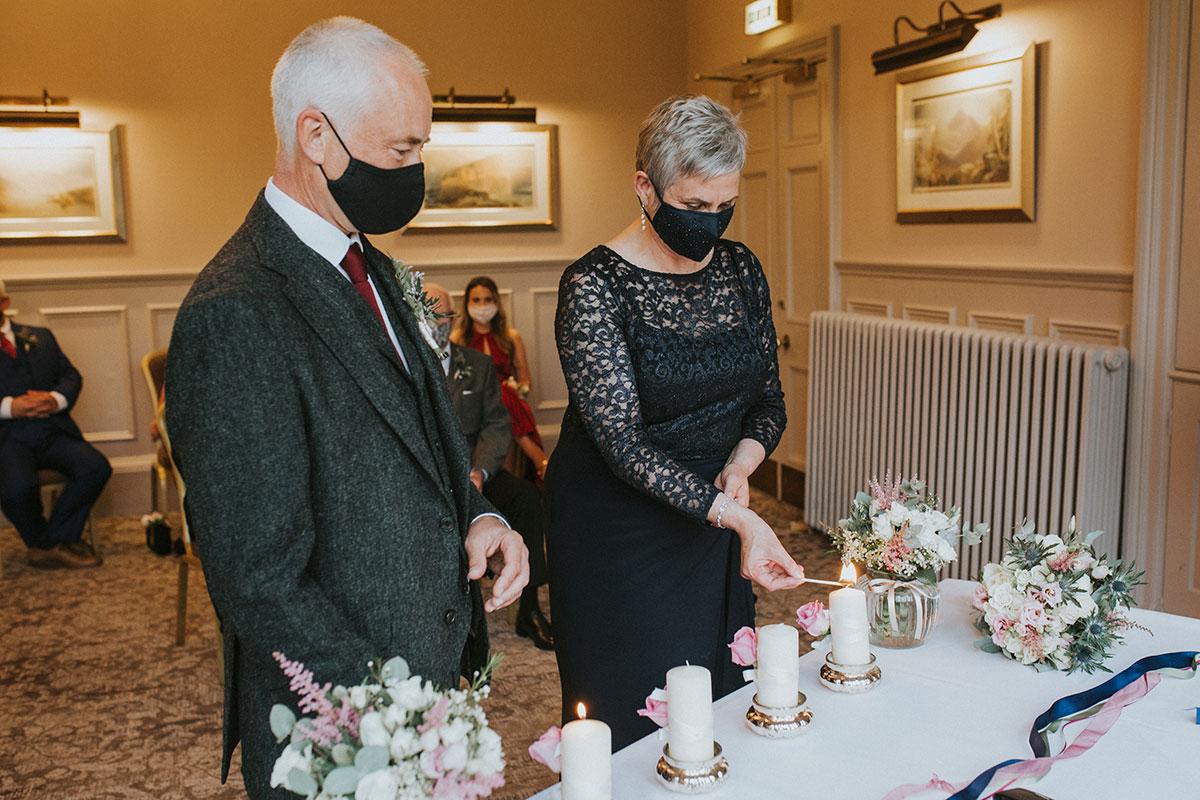 Covid wedding ceremony candle ritual Norton House Hotel