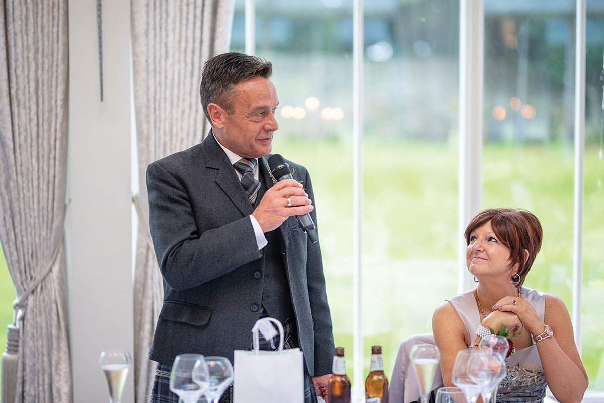 CameraShy Photography Carlowrie Castle father of the bride speech