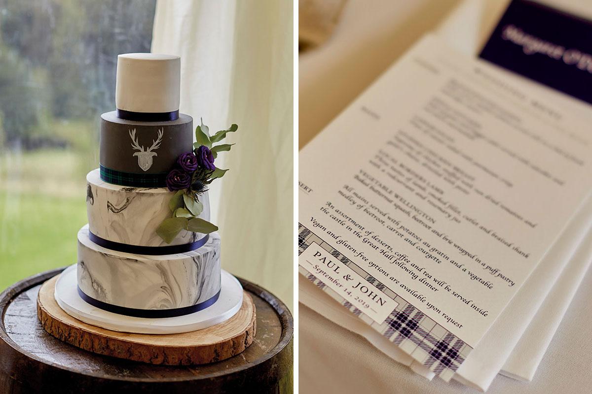 Wedding-cake-and-wedding-menu