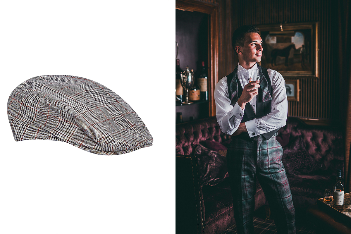 Burton cap and Gordon Nicolson tartan trews