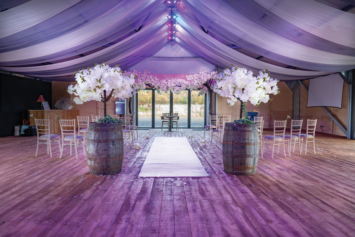 Wedding marquee at Duntarvie Castle