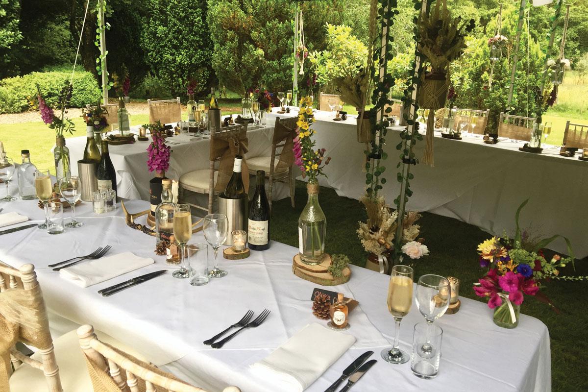 Glen Clova Hotel outdoor wedding gazebo