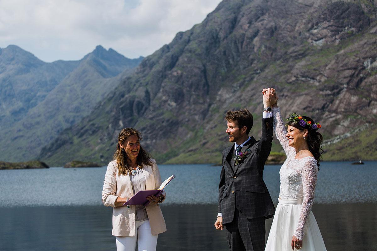 Davina McCluskie Scottish Highland Weddings elopement on the Isle of Skye