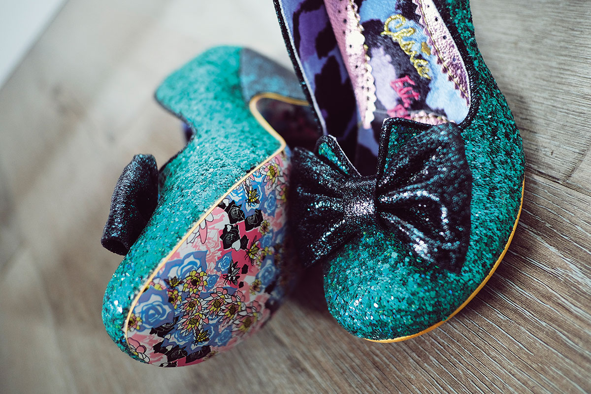 blue bow glitter shoes Irregular Choice