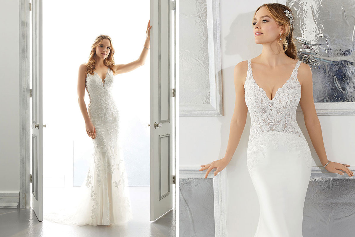 Two wedding dresses by Morilee from Dream Brides in Irvine