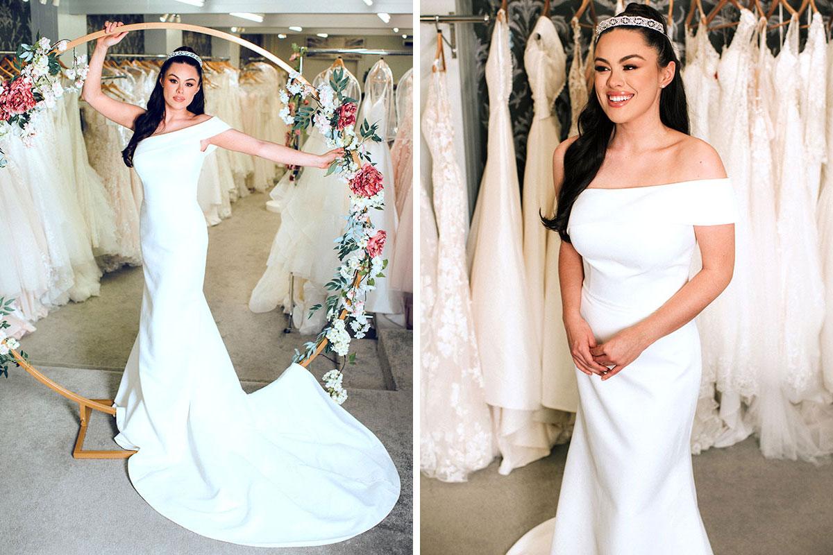 Bride wearing dress by Dream Brides