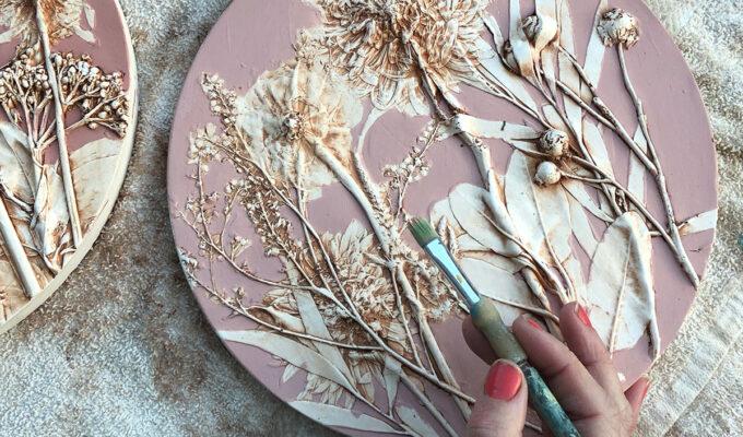 Imprint Botanical Casts hand painting flower cast