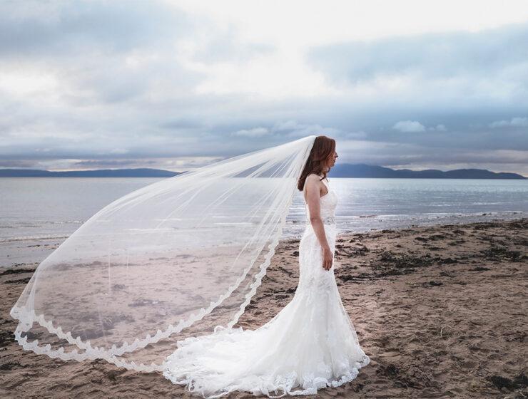 House of Veils veil on the beach