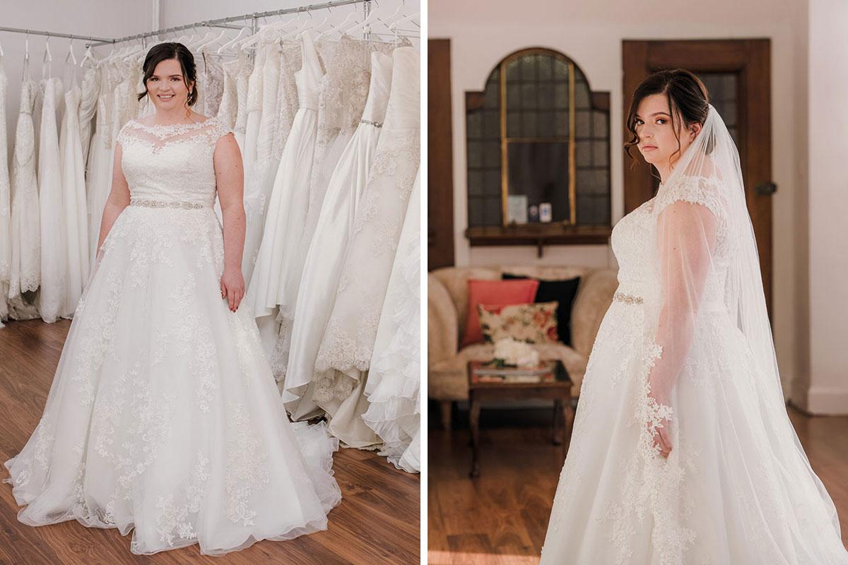 Bride wearing dress by Innate Bridals