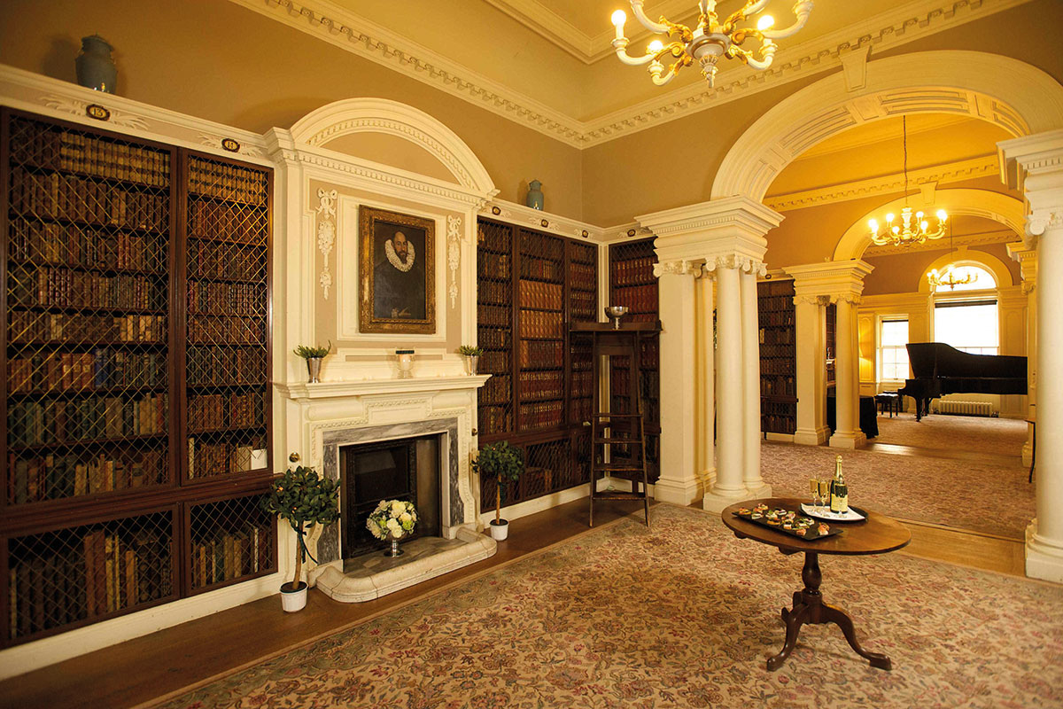 Library at Pollok House Glasgow owned by the National Trust for Scotland