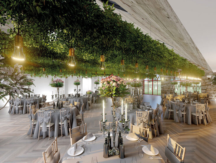 Artist's impression of the new proposed banqueting gallery at Broxmouth Park Dunbar