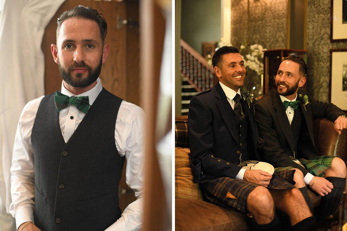 same sex grooms wedding on wedding morning at The Gathering