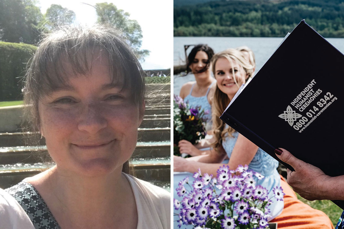 Wedding celebrant Fiona Flanagan of Independent Humanist Ceremonies
