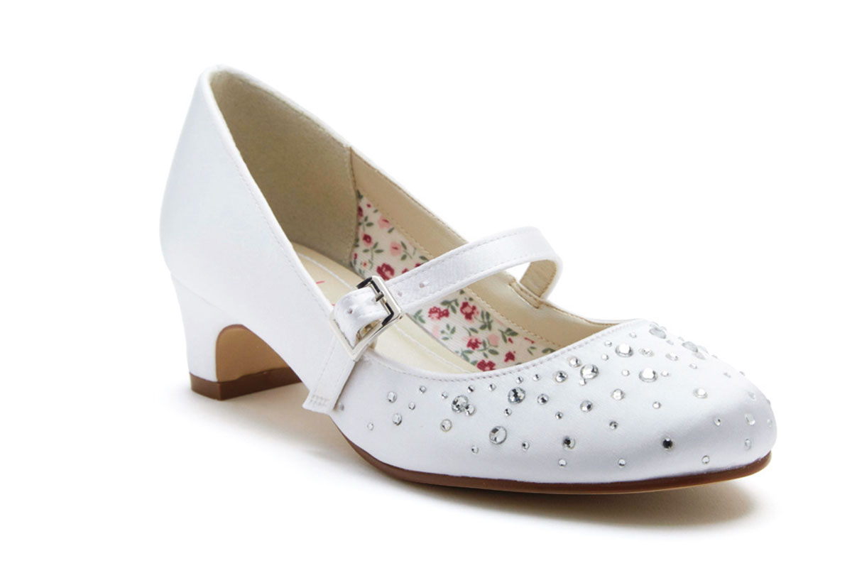 Rainbow Club girls' Cherry wedding shoes