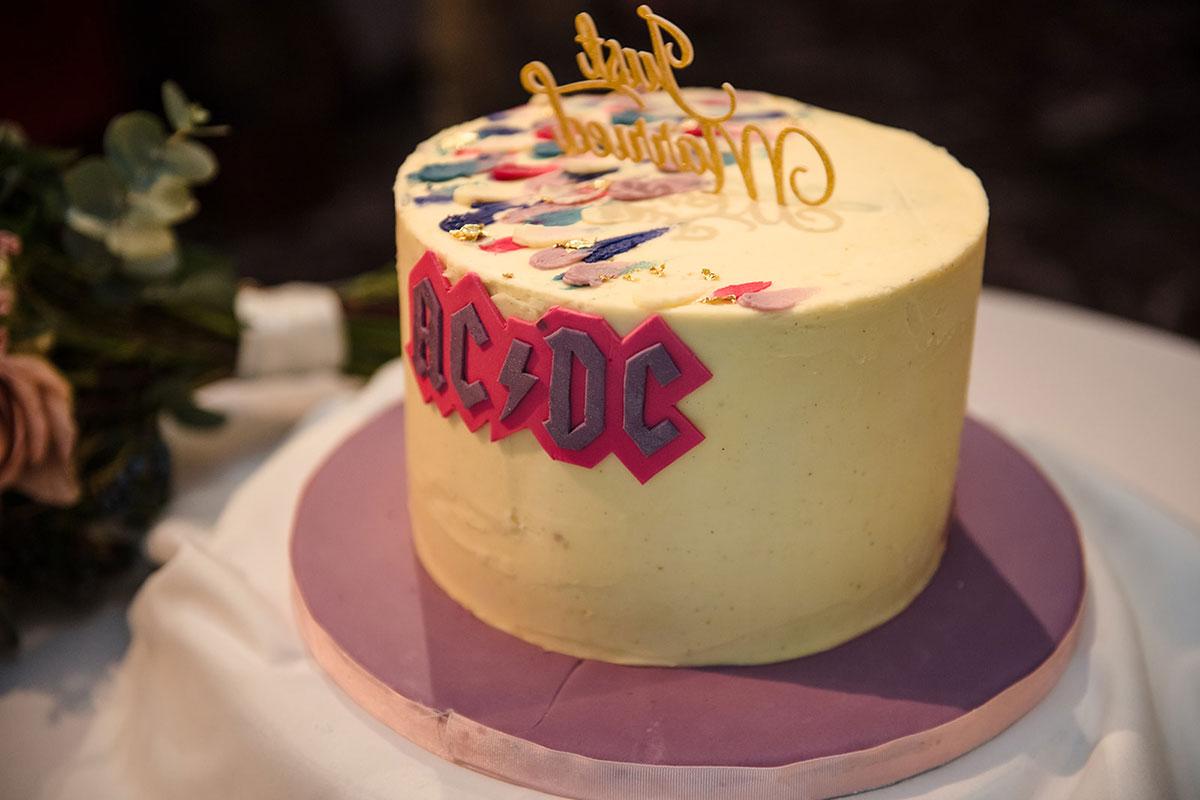 ACDC logo wedding cake
