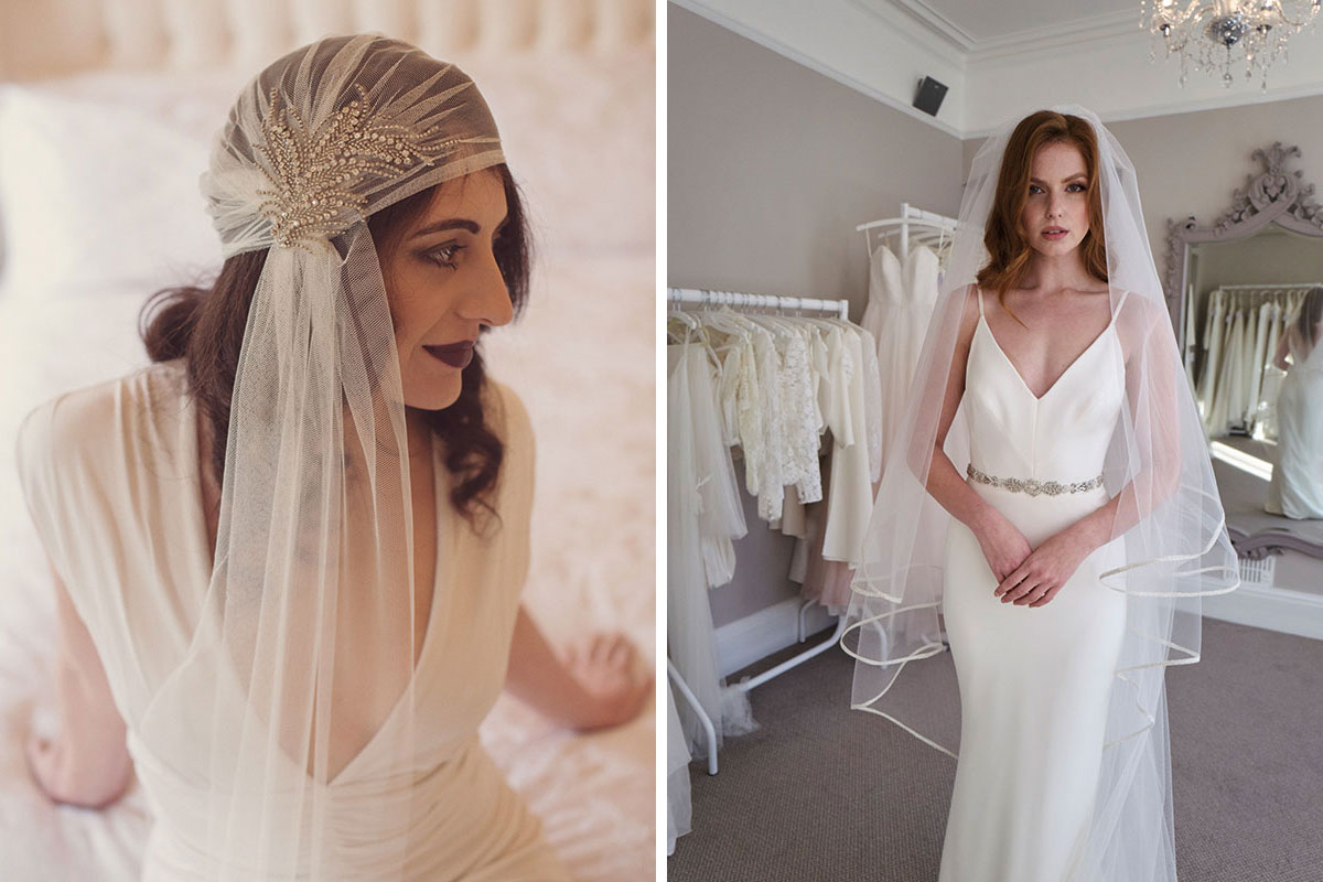 Models wearing veils by Blossom and Bluebird and The Couture Veil by Sassi Holford