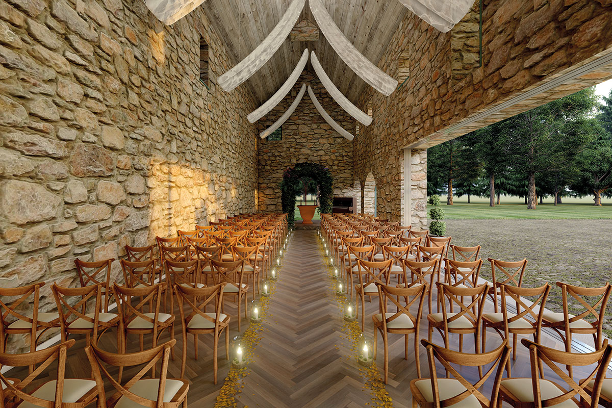 Ceremony room in courtyard at Broxmouth Park