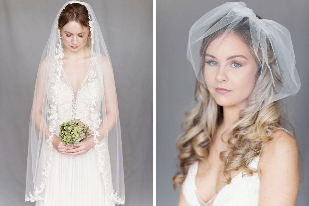 Models wearing veils by Eliza Loves