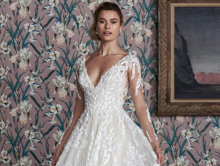 The Bridal Courtyard Justin Alexander Signature Hampton wedding dress top half